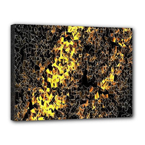 The Background Wallpaper Gold Canvas 16  X 12
