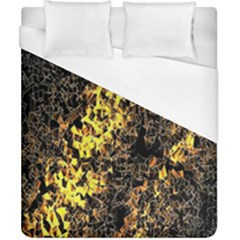 The Background Wallpaper Gold Duvet Cover (california King Size)