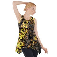The Background Wallpaper Gold Side Drop Tank Tunic