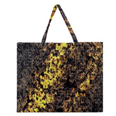 The Background Wallpaper Gold Zipper Large Tote Bag