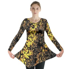 The Background Wallpaper Gold Long Sleeve Tunic