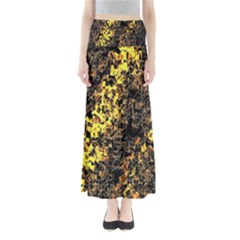The Background Wallpaper Gold Full Length Maxi Skirt
