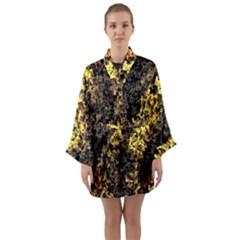The Background Wallpaper Gold Long Sleeve Kimono Robe