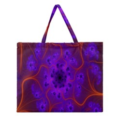Fractal Mandelbrot Julia Lot Zipper Large Tote Bag