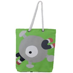 Magnemite (blue) Full Print Rope Handle Tote (large)