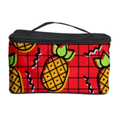 Fruit Pineapple Red Yellow Green Cosmetic Storage Case by Alisyart