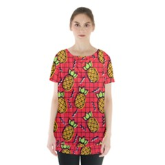 Fruit Pineapple Red Yellow Green Skirt Hem Sports Top by Alisyart