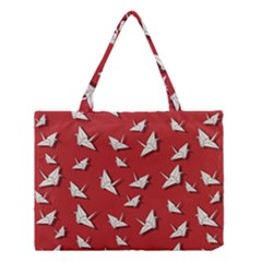 Paper Cranes Pattern Medium Tote Bag by Valentinaart