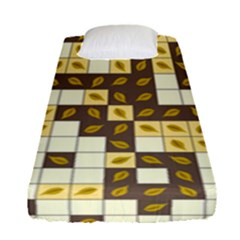 Autumn Leaves Pattern Fitted Sheet (single Size) by linceazul
