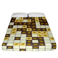 Autumn Leaves Pattern Fitted Sheet (california King Size) by linceazul