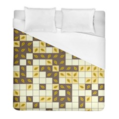Autumn Leaves Pattern Duvet Cover (full/ Double Size) by linceazul