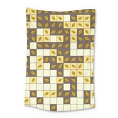 Autumn Leaves Pattern Small Tapestry by linceazul