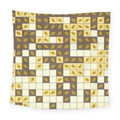 Autumn Leaves Pattern Square Tapestry (large) by linceazul