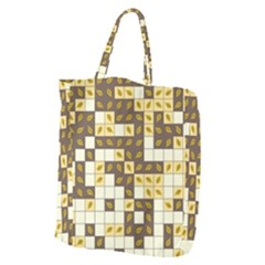 Autumn Leaves Pattern Giant Grocery Zipper Tote by linceazul