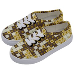 Autumn Leaves Pattern Kids  Classic Low Top Sneakers by linceazul