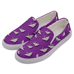 Paper Cranes Pattern Men s Canvas Slip Ons by Valentinaart