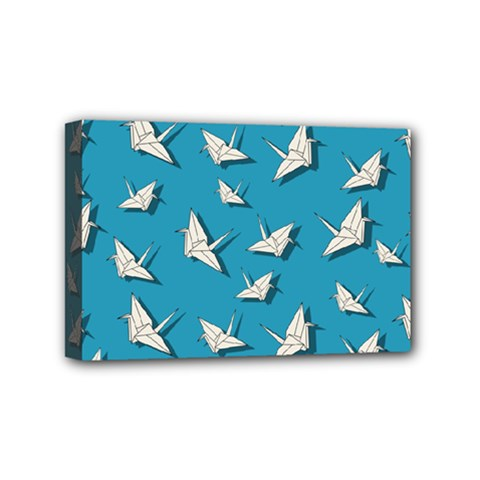 Paper Cranes Pattern Mini Canvas 6  X 4  by Valentinaart