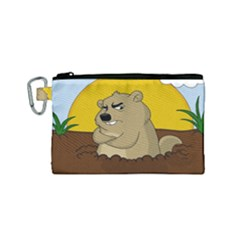 Groundhog Day Canvas Cosmetic Bag (small) by Valentinaart