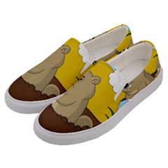 Groundhog Day Men s Canvas Slip Ons by Valentinaart