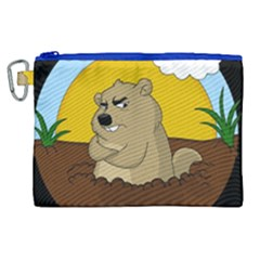 Groundhog Day Canvas Cosmetic Bag (xl) by Valentinaart