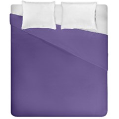 Color Of The Year 2018   Ultraviolet   Pure&basic Duvet Cover Double Side (california King Size) by tarastyle
