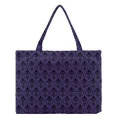 Color Of The Year 2018   Ultraviolet   Art Deco Black Edition Medium Tote Bag by tarastyle
