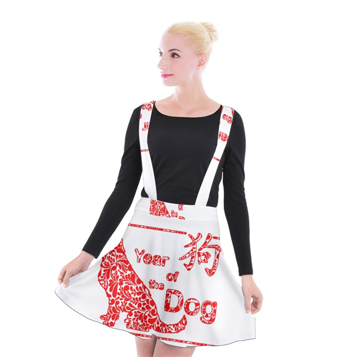 Year of the Dog - Chinese New Year Suspender Skater Skirt