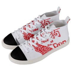 Year Of The Dog   Chinese New Year Men s Mid Top Canvas Sneakers by Valentinaart