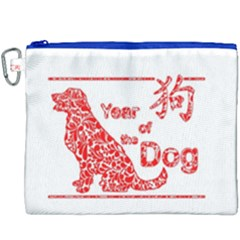 Year Of The Dog   Chinese New Year Canvas Cosmetic Bag (xxxl) by Valentinaart