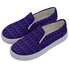 Color Of The Year 2018   Ultraviolet   Art Deco Black Edition Kids  Canvas Slip Ons by tarastyle