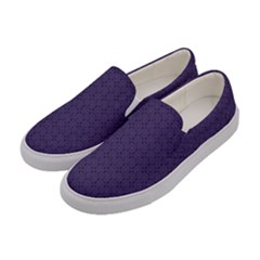 Color Of The Year 2018   Ultraviolet   Art Deco Black Edition Women s Canvas Slip Ons by tarastyle
