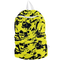 Yellow Black Abstract Military Camouflage Foldable Lightweight Backpack by Costasonlineshop