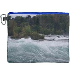 Sightseeing At Niagara Falls Canvas Cosmetic Bag (xxxl) by canvasngiftshop