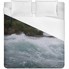 Sightseeing At Niagara Falls Duvet Cover (king Size) by canvasngiftshop