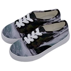 Sightseeing At Niagara Falls Kids  Classic Low Top Sneakers by canvasngiftshop