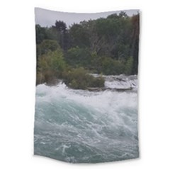 Sightseeing At Niagara Falls Large Tapestry by canvasngiftshop