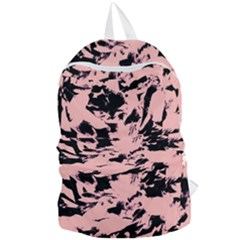 Old Rose Black Abstract Military Camouflage Foldable Lightweight Backpack by Costasonlineshop