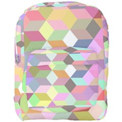 Mosaic Background Cube Pattern Full Print Backpack by Onesevenart