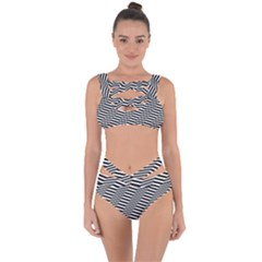 Zig Zag Zigzag Chevron Pattern Bandaged Up Bikini Set