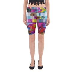 Color Abstract Visualization Yoga Cropped Leggings