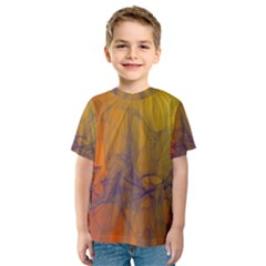 Fiesta Colorful Background Kids  Sport Mesh Tee