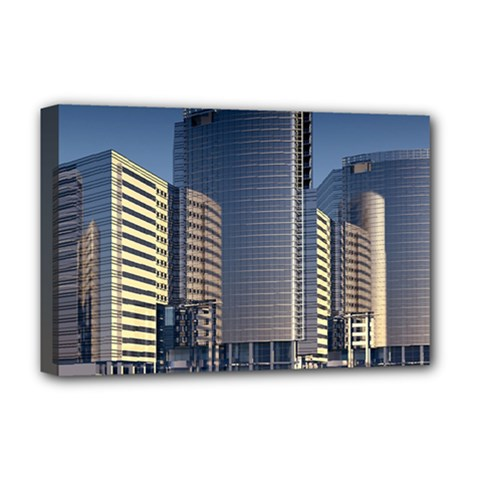 Skyscraper Skyscrapers Building Deluxe Canvas 18  X 12   by Onesevenart