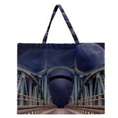 Bridge Mars Space Planet Zipper Large Tote Bag