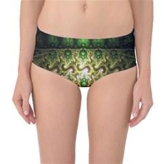 Fractal Art Digital Art Mid Waist Bikini Bottoms by Onesevenart