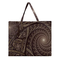 Abstract Pattern Graphics Zipper Large Tote Bag by Onesevenart