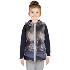 Mountains Moon Earth Space Kid s Puffer Vest by Onesevenart