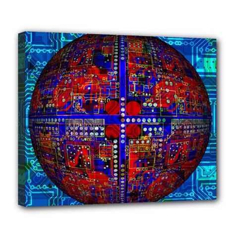 Board Interfaces Digital Global Deluxe Canvas 24  X 20   by Onesevenart