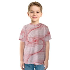 Red Pattern Abstract Background Kids  Sport Mesh Tee