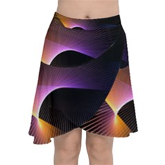 Star Graphic Rays Movement Pattern Chiffon Wrap by Onesevenart