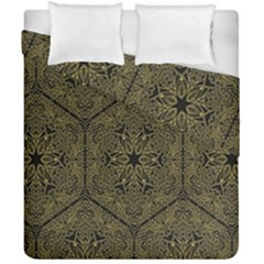 Texture Background Mandala Duvet Cover Double Side (california King Size) by Onesevenart